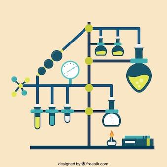 Infografía de laboratorio de química