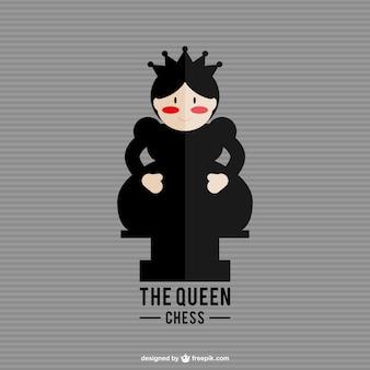 Vector reina de ajedrez