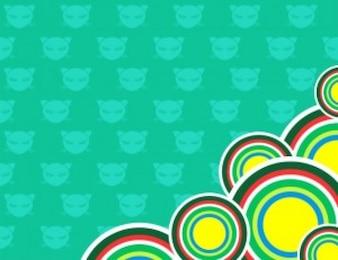 Chibi gato iconos gorjeo fondo