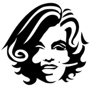 Chica con el pelo rizado, ilustración vectorial