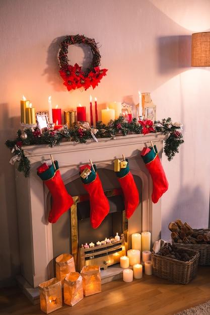 Calcetin Navideo Great Para Rboles De Navidad Pap Noel Calcetn