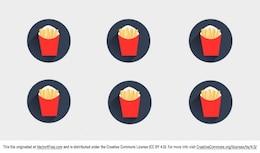 Chips de comida rápida en Packcage rojo