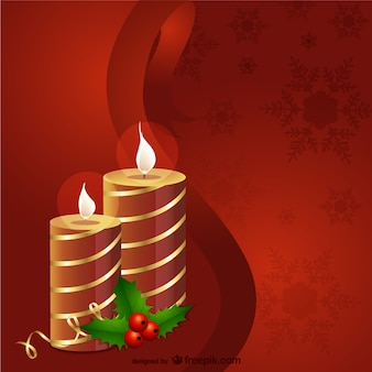 Vector con velas de Navidad