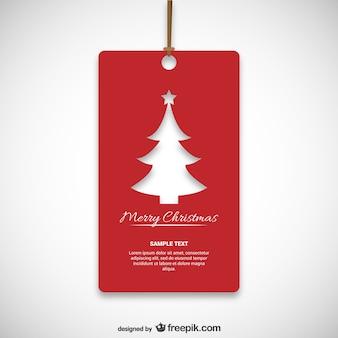 Etiqueta roja de Navidad