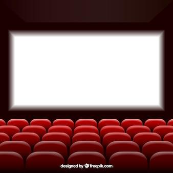 Cine con pantalla y asientos