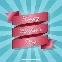 Cinta de feliz día de la madre