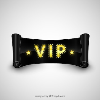 Cinta negro VIP