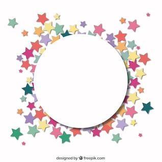 Círculo con un marco de estrellas