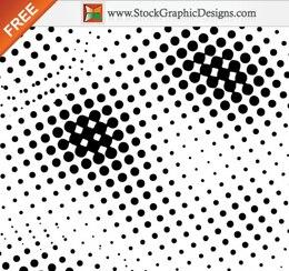 Círculo de medios tonos vectoriales sin la imagen del arte