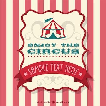 Ilustración vectorial carpa de circo