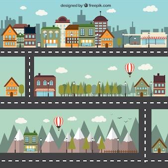 Ciudad de dibujos animados