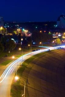 ciudad de la noche, al aire libre