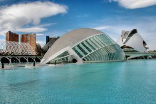 Ciudad de Las Artes y las Ciencias y Las, azul