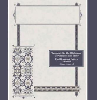 Clásico diploma marco plantillas de fondo