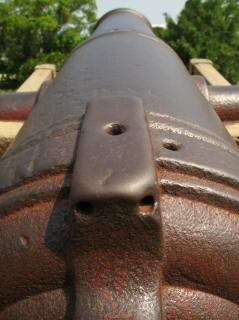 close-up de bronce de cañón