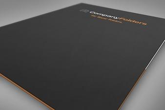 Primer plano carpeta portada plantilla maqueta psd gratis
