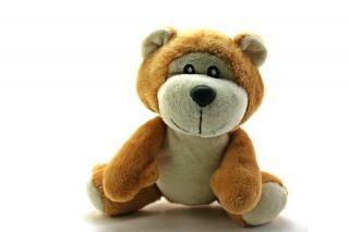 Clásico oso de peluche, un objeto