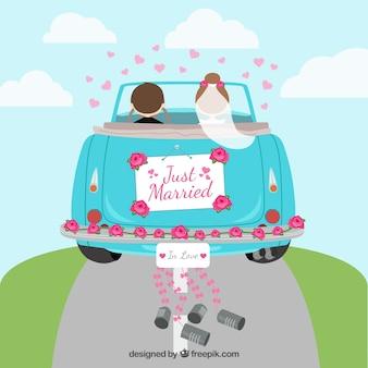 Coche de recién casados