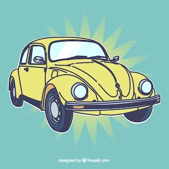 Coche retro amarillo