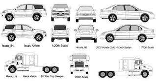 Coches blancos y camiones vector