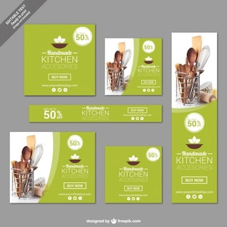 Cocina accesories banners