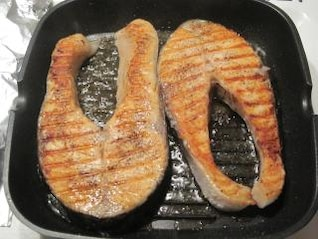 cocinar salmón delicioso pescado