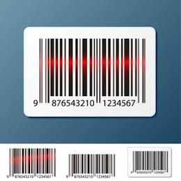 Código de barras vector de exploración