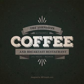 Insignia de café y restaurante de desayunos
