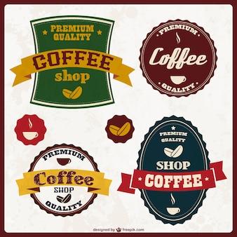 Diseño de pegatinas de café