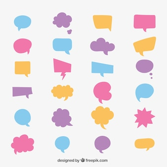 Colección burbuja del discurso colorido