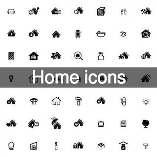 Colección de 63 iconos de casas