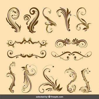 Colección de adornos victorianos
