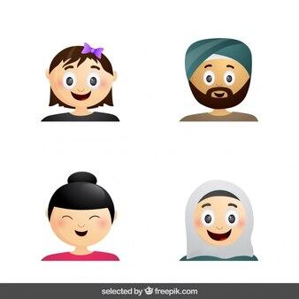 Colección de avatares de cultura