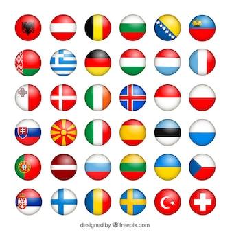 Colección de banderas europeas