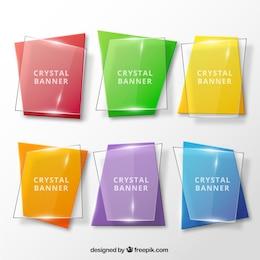 Colección de banners de cristal