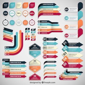Colección de banners de infografía