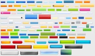 colección de botones estilo web