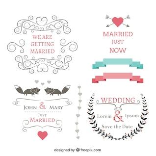 Colección de carteles de boda