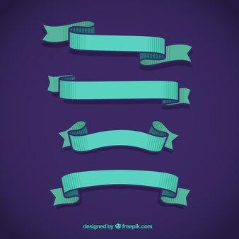 Colección de cintas azules
