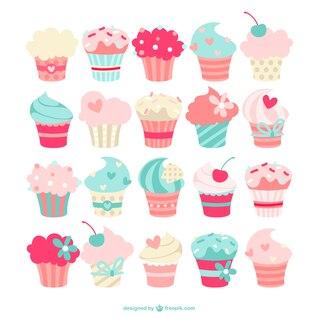 Colección de cupcakes