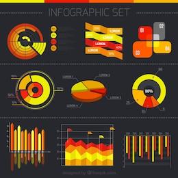 Colección de diagramas de Infografía