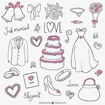 Colección de dibujos de boda