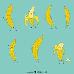 Colección de dibujos de plátanos