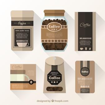 Colección de envases de café