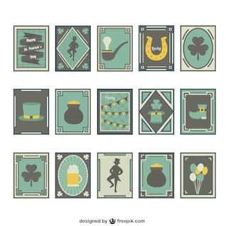 Colección de etiquetas de San Patricio