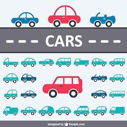 Colección de iconos de coches
