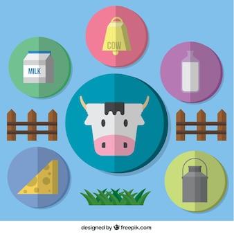 Colección de iconos de cultivo