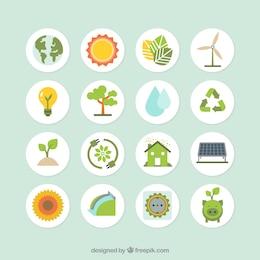 Colección de iconos de ecología