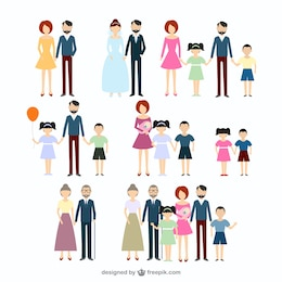 Colección de iconos de familia
