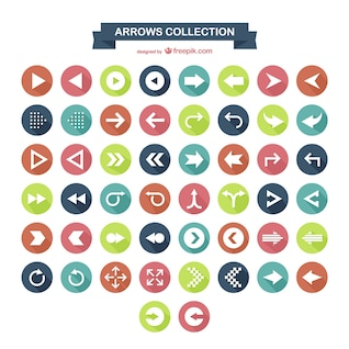 Colección de iconos de flechas
